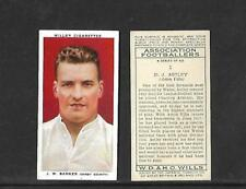 Type Cards: Wills ASSOCIATION FOOTBALLERS ( WITH Frame ), VG+ - EX