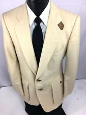 Vtg Fioravanti Men NORFOLK Sport Coat ELBOW PATCH Pocket Jacket Wool Blazer 38 L