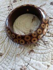 Kenneth J Lane KJL Brown Wooden Bracelet