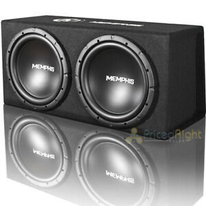 "Memphis Audio Dual 12"" Subwoofers with Ported Enclosure 1000 Watts Max SRXE212V"