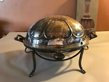 19th c.silverplated footed revolving breakfast tureen English,Martin & Hall