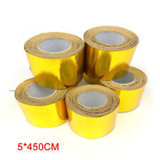 Reflective Gold Heat Shield Tape For Thermal Racing Engine 5×450CM Performance