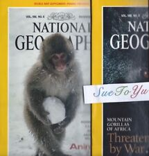 Lot of 2 National Geographic About Monkeys Gorillas Animals at Play Africa