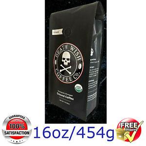 Death Wish Coffee @ The Strongest GROUND COFFEE @ 1lb/16oz/454g