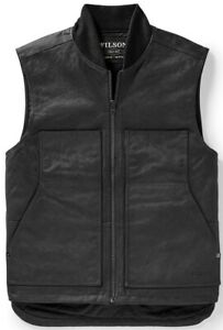 Filson Wax Work Vest Faded Black, Men's L NWT MSRP $225