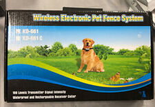 New listing Wireless Electronic Pet Containment Fence System Kd-661 Waterproof Rechargeable