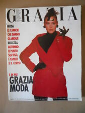 GRAZIA Rivista di moda n°2485 1988 Monica Bellucci [Q64] Rarissimo!
