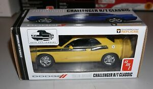 2010 Dodge Challenger R/T Classic Yellow AMT Window Box Promo 1/25 New In Box.