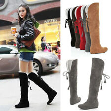 Thigh High Boots Female Winter Boots Women Warm Over The Knee Boots Flat Shoes