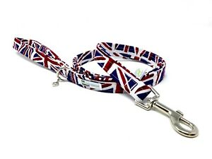 Dog Lead, Union Jack - Dog Leash - ** Cushion Padded Handle ** Standard Length