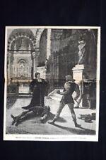 Teatro Manzoni - Severo Torelli, dramma di Francesco Coppée Incisione del 1886