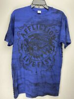 Affliction Short Sleeve T-Shirt Mens Blue Size M