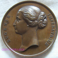 MED9873 - MEDAILLE EXPOSITION NATIONALE DE NANTES 1861 IMPERATRICE EUGENIE