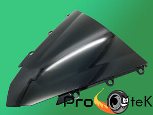 For 2016-2018 Honda CBR500R ABS Black Double Bubble ABS Windscreen Windshield