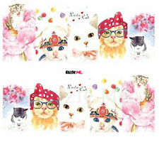 Nail Art Sticker Water Decals Transfer Decorative Cats (C220)