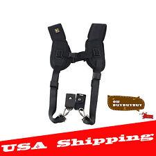 Double Dual Shoulder Neck Strap Sling Belt For Digital SLR DSLR Camera EO