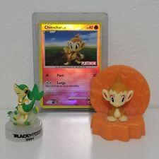 Lot of 2 - Pokemon Mini PVC Figures + Card Snivy and Platinum Chimchar Holder