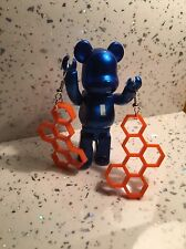 Retro Style Honeycomb Orange Acrylic Earrings Retro Gaming Video Games Geek Nerd