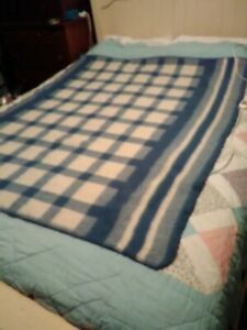 SUNBEAM Electric Blanket Throw Automatic Heated Throw Model HT-1 Blue