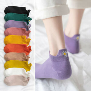 New Fashion Vintage Embroidered Daisy Women Cotton Socks Fashion Ankle Funny