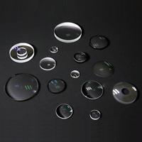 Optical lens diameter 16mm flat convex, focal length 10mm hemispherical K9 glass