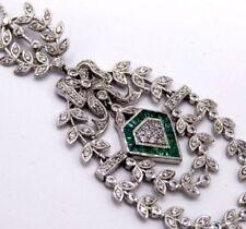 Collares y colgantes de joyería sin tratar esmeralda