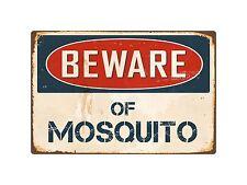 """Beware Of Mosquito 8"""" x 12"""" Vintage Aluminum Retro Metal Sign VS290"""