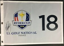 RICKIE FOWLER SIGNED 2018 RYDER CUP GOLF FLAG FRANCE USA TEAM MASTERS US PGA COA