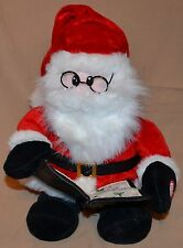 "13"" Santa Clause Sings Music Silent Night Cheeks Light Up Christmas Dolls Toys"