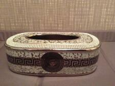 taschentuchbox Tissue Box   Ver sace - Porzellan - MEDUSA Schwarz Silber