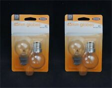 Ring Clear Transparent 25Watt 45mm Globe Bulb Bayonet Cap (Pack of 4 Bulbs)