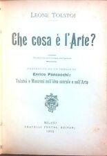 CHE COSA E' L'ARTE DI LEONE TOLSTOI