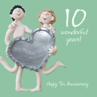 Wedding Anniversary Card - 10th Tenth 10 Years Tin One Lump Or Two Quality NEW