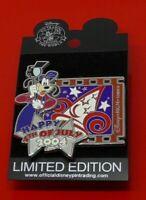 Disney Enamel Pin Badge Goofy Happy 4th July 2004 MGM Studios LE2500 on Card