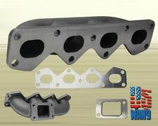 90-93 MIATA 1.6L B6ZE RETAIN AC/PW T3/T4 CAST IRON BUTTON MOUNT TURBO MANIFOLD