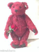 """❤️Steiff DEW DROP ROSE Teddy Bear 🐻 665844 16"""" LE 3500 for USA MOHAIR Crystal❤️"""