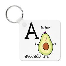 LETTERA A IS per avocado PORTACHIAVI CHIAVE CATENA - Alfabeto carino divertente