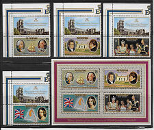 AITUTAK I , ELIZABETH II , 25TH YEAR/ REIGN , 1977 , S/S & SET OF 4 , PERF , MNH