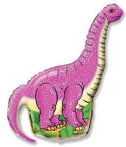PINK Dinosaur Balloon 38 inch Dino Shaped Bronto Long Neck Birthday Party Girls