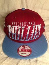 100% AUTHENTIC NEW ERA 9FIFTY MLB PHILADELPIA PHILLIES SNAP BACK HAT (MAROON)