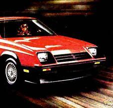 1981 DODGE 024 FACTORY BROCHURE-DODGE 024 DETAMASO
