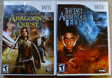 Nintendo Wii Lot - The Lord of the Rings Aragorn's Quest & The Last Airbender