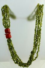 Haute Couture Necklace Natural Stone J6262 Finest Runway Coral Jade Green Quartz