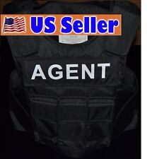 AGENT TAG // 3A SIZE Medium Body Armor Bullet Proof / Stab Proof  Vest NEW!!!