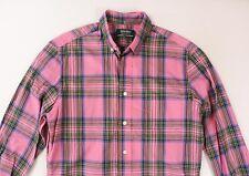 Gitman Bros x Opening Ceremony Mens Pink Plaid Cotton Shirt M Medium $195