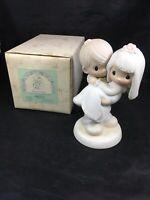 Precious Moments Figurine Bless You Two Wedding Bride Groom E-9255