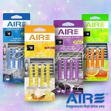 4 PC Aromate Aire Clip-On Auto Scent Perfume For Car Vent Air Freshener Set