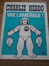 CHARLIE HEBDO N°11 VIVE AMERIQUE NASA GEBE 1 fev 1971