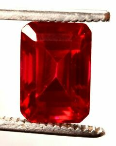 9.40 Cts. Fancy Natural Mozambique Red Ruby Emerald Cut Certified Gemstone