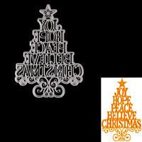 Christmas tree letters Metal Cutting Die For DIY Scrapbooking ^Album Paper TB